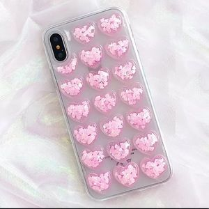 🌷NEW IPhone Case Cover 3D Heart Glitter Pink 🌸
